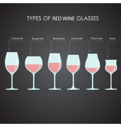 types of red wine glasses vector image