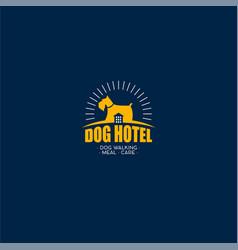 dog hotel logo vector image