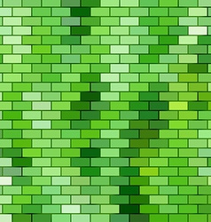Grass themed background with brick grid vector image vector image