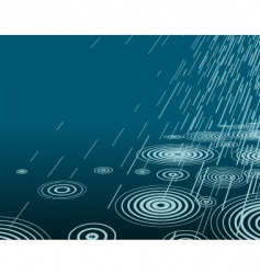 night rain vector image vector image