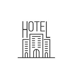 simple thin line luxury hotel icon vector image vector image