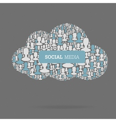 social media conceptual vector image vector image