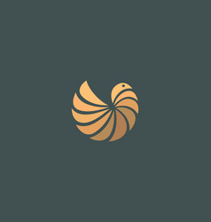 abstract bird logo icon element modern style vector image
