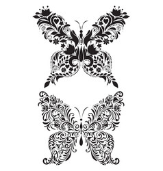 abstract floral butterflies vector image