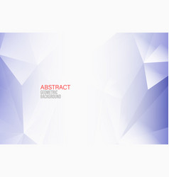 abstract geometric background blue triangle vector image