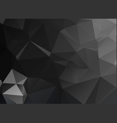 black polygonal mosaic background geometric vector image