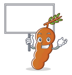 Bring board tamarind character cartoon style vector
