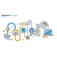 business process vector image
