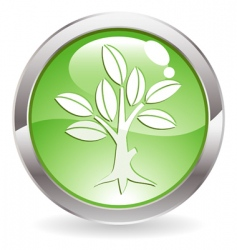 button with tree vector image