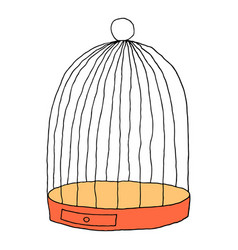 cage for the bird isolated on white background vector image