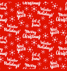 Christmas lettering seamless pattern vector