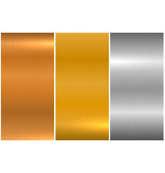 collection bright brushed metallic textures vector image