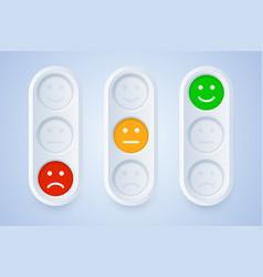 color emoticons in three color options vector image