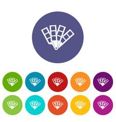 Color palette guide set icons vector