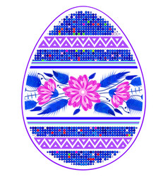 colorful happy easter egg for greeting card vector image