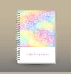 cover of diary or notebook with ring spiral vector image
