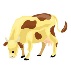 cow icon cartoon style vector image