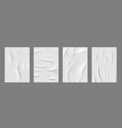 crumpled white paper poster wallpaper texture for vector image