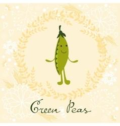 Cute sweet broccoli character vector image