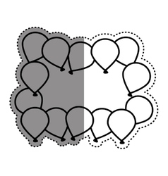 Decorative Birthday balloons vector image