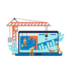development concept and website under construction vector image