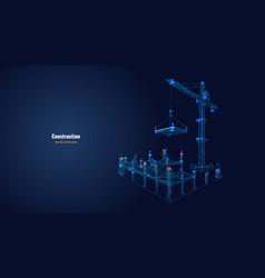 digital construction concept vector image