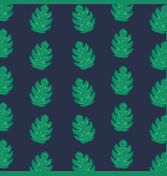 ecology leafs plants pattern vector image
