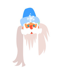 father frost christmas portrait flat vector image