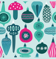 Funny seamless pattern christmas decoration vector