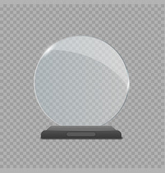glass trophy award vector image