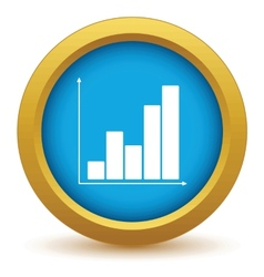 Gold chart icon vector