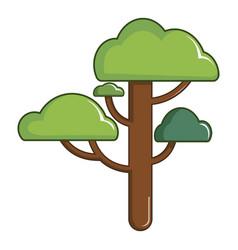 Green tree icon cartoon style vector