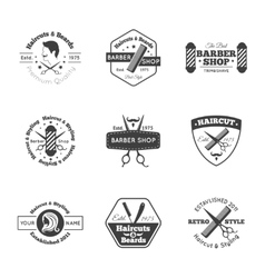 Hairdress Logo Set vector image