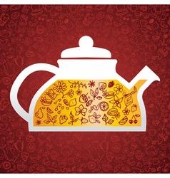 Hand drawn tea background vector