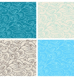 Hand drawn wavy seamless pattern vector