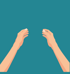 hands hold template vector image