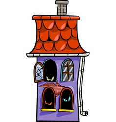 haunted house cartoon vector image