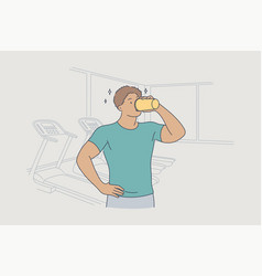 Health care drink training sport rest vector