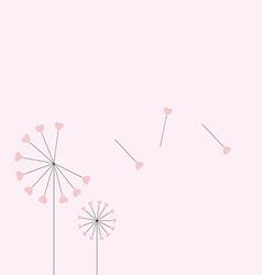 Heart dandelion vector image
