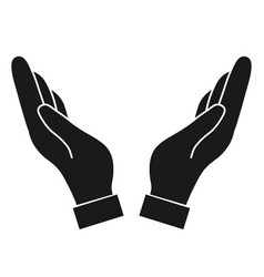 help and protect hand vector image