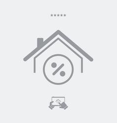 home value - web icon vector image