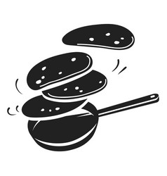 Hot meal griddle icon simple style vector