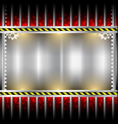 industrial background metal frame vector image