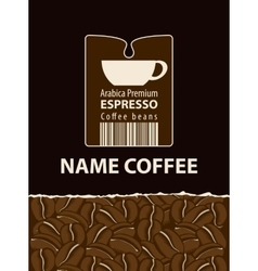 Labels for coffee vector