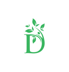 leaf initial a logo template vector image
