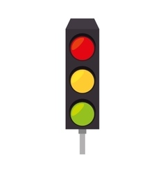 Light traffic signal street stoplight icon vector