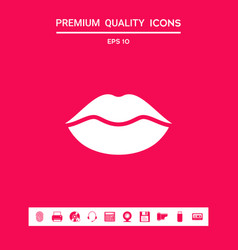 Lips symbol icon graphic elements for your vector