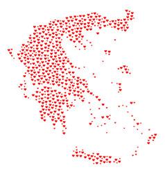 Love mosaic map of greece vector