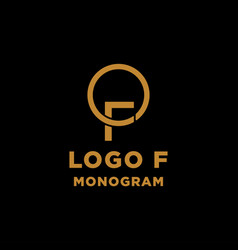 luxury initial f logo design icon element isolated vector image