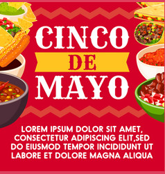 Mexican cinco de mayo celebration food vector